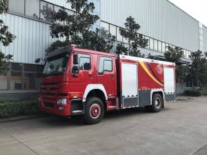 SINOTRUCK HOWO 7cbm water and foam fire fighting truck