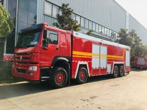 SINOTRUCK HOWO 24cbm water and foam fire fighting truck