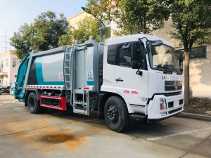 Dongfeng 10-12cbm side loading compression dump garbage truck