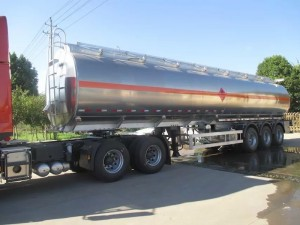 Stainless steel 3 axles fuel tanker semi trailer