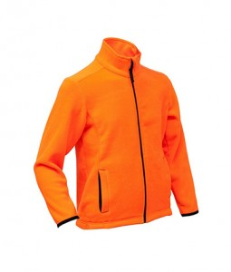 Waterproof orange reflective men's sports hunting jacket with membrane