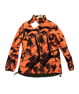 Hunting men's camo fleece reversible jacket