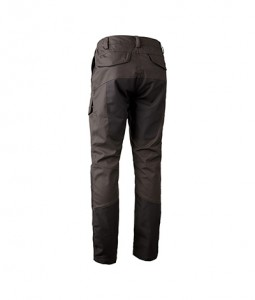 Spring&Autumn 65% Polyester 35% Cotton with Wax tratment . Knee & back with rip-stop metail is very durable.