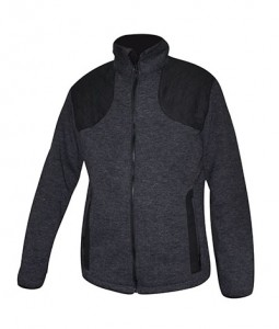 melange bonded fleece jacket