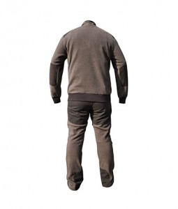Soft marl fleece men's jacket & pant suit
