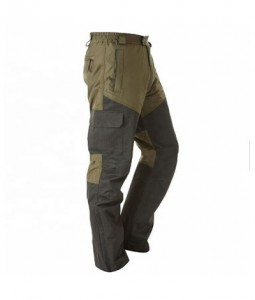 90% Polyester 10% Nylon with membrane  Knee & back with rip-stop material durable.