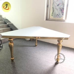 wholesale price Fashion design Luxury Gold Stainless Steel iron Furniture Dining Table  Dining Table   SF-SS045