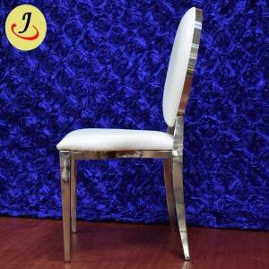 Modern style golden stainless steel pattern wedding chair SF-SS025