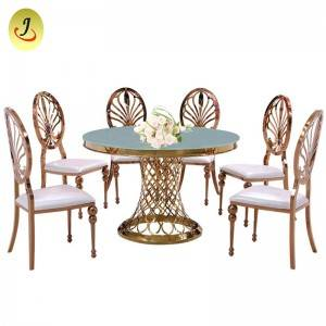 Romanti frame rectangle stainless steel golden glass event wedding table  SF-SS011