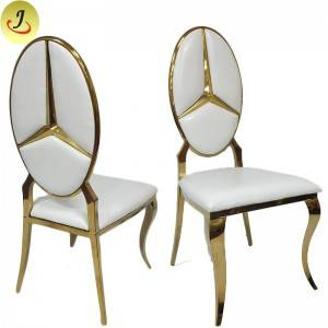 The best price Modern style golden stainless steel metal wedding chair SF-SS029