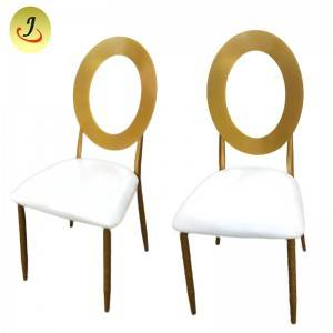 Golden stainless steel round back dining furniture chair SF-SS022