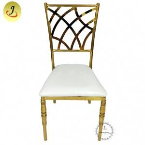 New product Wedding Event Gold Stainless Steel Chair Wedding Luxury Dining Chair SF-SS035