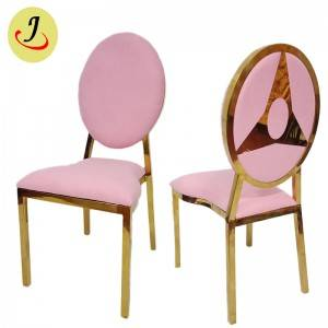 wholesale pink color Round Shape pattern Stainless Steel Dining Chair  SF-SS028