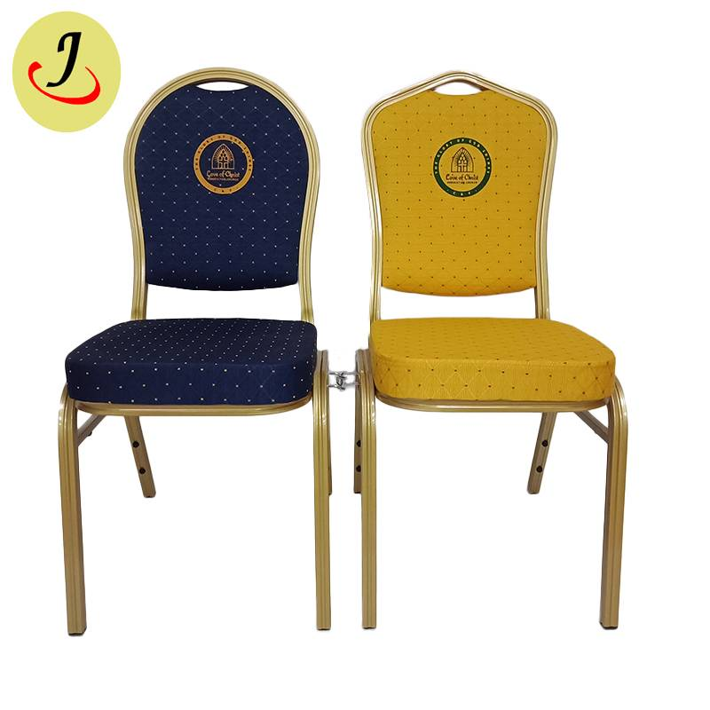 Multifunctional Modern Commercial alumin Hotel Furniture Wedding event Banquet Chair with Connection buckle SF-037 Featured Image