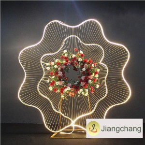 New Design Popular Stage Background of LED Iron Art Large Flower for Event Decoration SF-BJ018