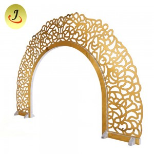 Gold wooden carving stage backdrops decoration for wedding events