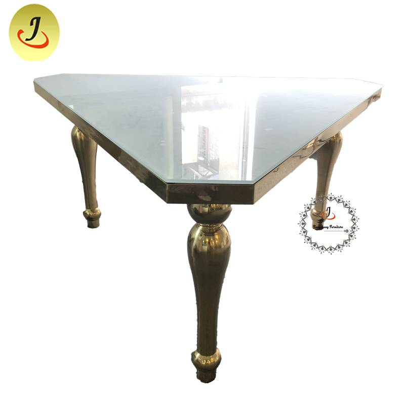 wholesale price Fashion design Luxury Gold Stainless Steel iron Furniture Dining Table  Dining Table   SF-SS045 Featured Image