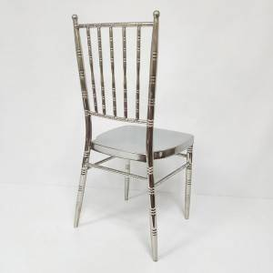 Wholesale factory Popular mirror Elegant royal gold stainless chiavari Chair FS-TC024
