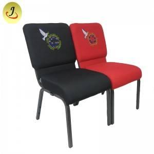 Multifunctional interlocking armless church chair with logo SF-JC011