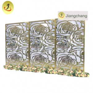 Royal wedding furniture wedding golden backdrop  SF-BJ029