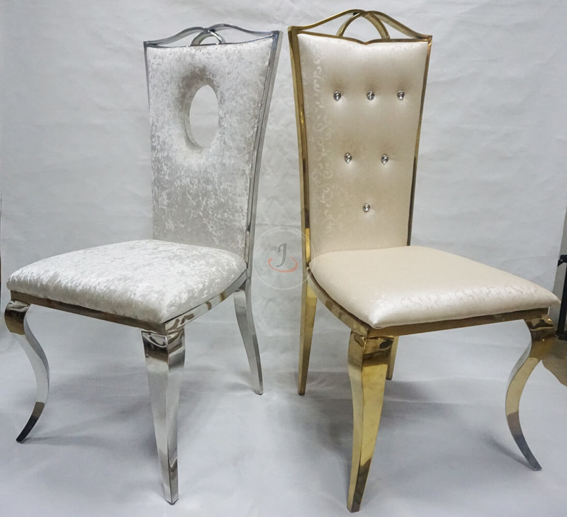 China Supplier Wholesale Cheap Regal Pew Chair - Rose stainless steel shape wedding event banquet chairs for sale SF-SS14 – Jiangchang Furniture