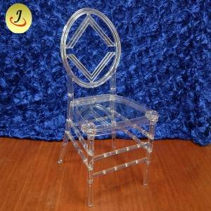 Wholesale price excellent quality acrylic transparent round back wedding chair SF-X07