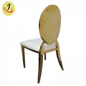 Bride and groom golden Stainless Steel event Chair  SF-SS039