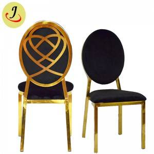 factory supply Round Shape pattern Stainless Steel Dining Chair  SF-SS029