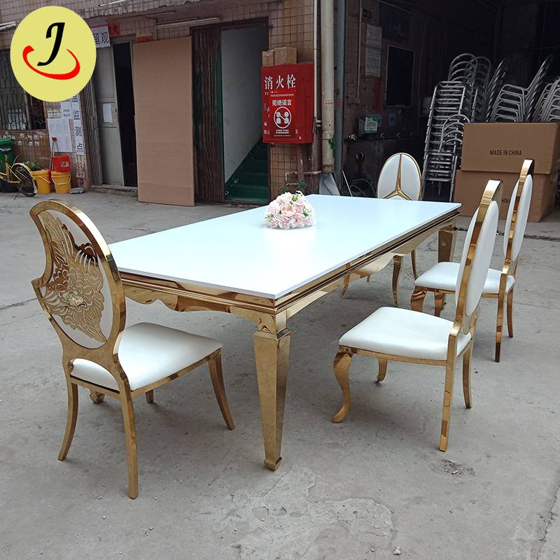 Modern style for wedding stainless steel dining table SF-SS037 Featured Image