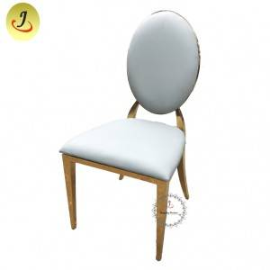 wholesale Modern  design top sale Gold Round Shape Stainless Steel Dining Chair  SF-SS034