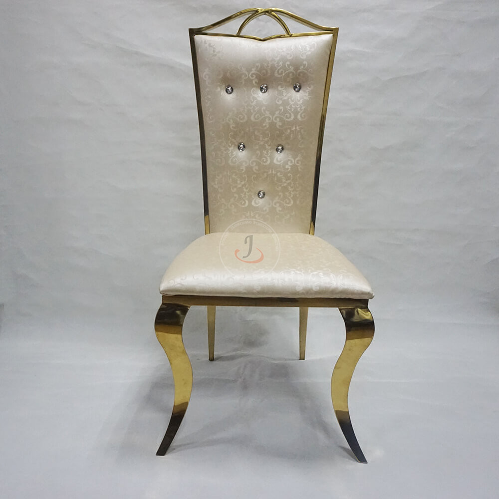 China Supplier Wholesale Cheap Regal Pew Chair - Rose stainless steel shape wedding event banquet chairs for sale SF-SS14 – Jiangchang Furniture Featured Image