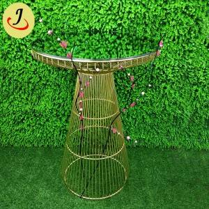 High Quality Modern mirror glass Stainless Steel Wedding Bar Table SF-MB04