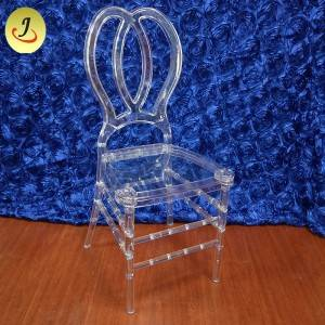 Factory excellent quality acrylic transparent flower back wedding chair SF-X08