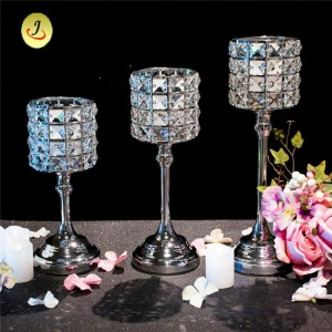 Wedding Candlestick Hanging Crystal Bead Metal Flower Stand/Wedding Decoration SF-ZT028