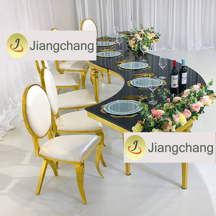 Wholesale modern style free combination stainless steel frame dining table  SF-SS039 Featured Image