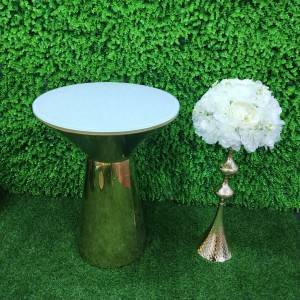 factory supply Modern glass Stainless Steel Wedding Bar Table SF-MB04