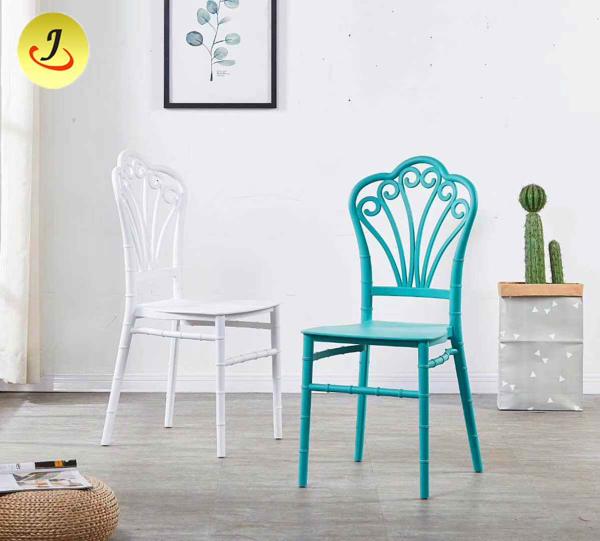 New Style Hotel Dining Chair Wedding  Plastic Chair For Party/dining chair SF-RCC018 Featured Image