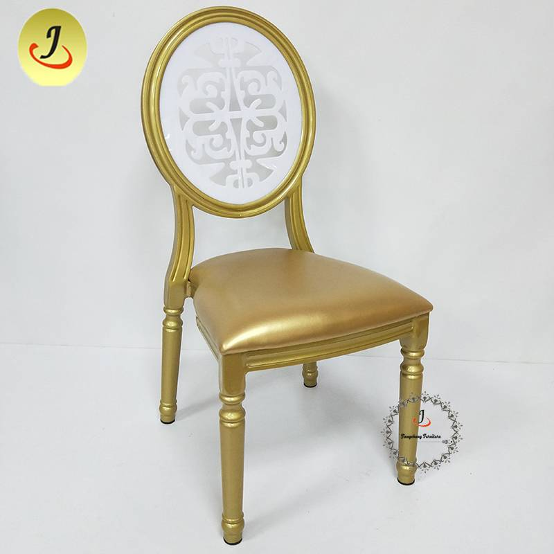 Factory direct romantic golden round back wood imitate chair FS-DDC04 Featured Image