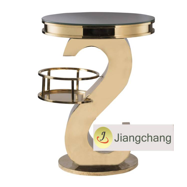 Wedding Furniture new design Events Stainless Steel High Bar Table for sale  SF-MB04 Featured Image