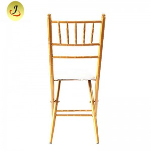 Folding stacking chiavari chair metal armless chair FS-F018