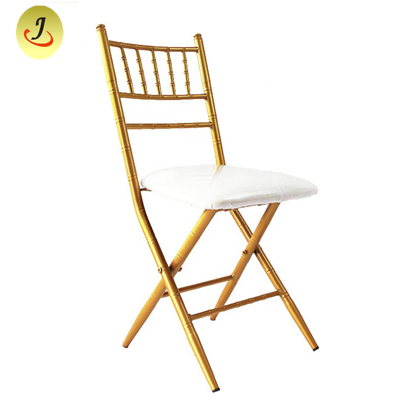 Folding stacking chiavari chair metal armless chair FS-F018 Featured Image