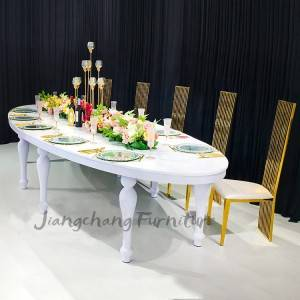 Wedding furniture luxury oval chairs and tables for sale
