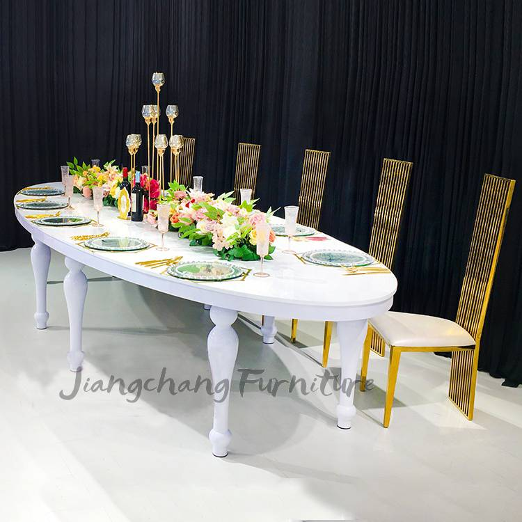 Wedding furniture luxury oval chairs and tables for sale Featured Image