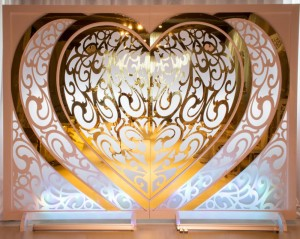 Rectangle Table Heart di Wedding SF-BJ02