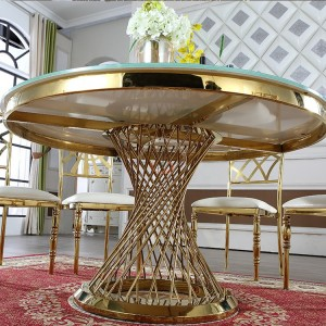 Tempered glass top dining table SF-SS18