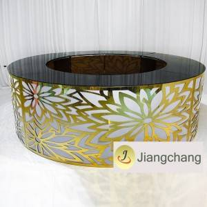 Wholesale price  Wedding Furniture Events Stainless Steel High Bar Table for sale  SF-MB06