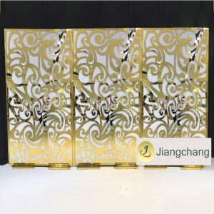 High Quality Acrylic Vintage Wedding Gold Backdrop Decoration  SF-BJ027
