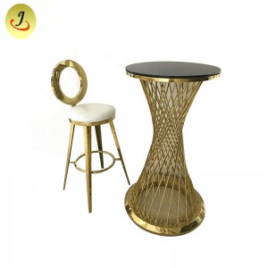 High Quality Arredamento Bar Modern Stainless Steel Wedding Bar Table SF-MB01