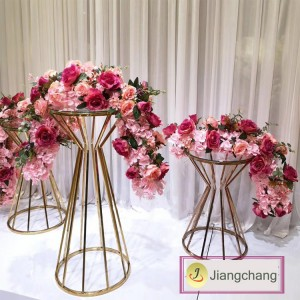 Wholesale Acrylic maryaj Centerpieces Crystal Tall Rektang flè kanpe / Flower Kanpe Display SF-Z018