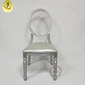 Factory direct romantic golden round back wood imitate chair FS-DDC04